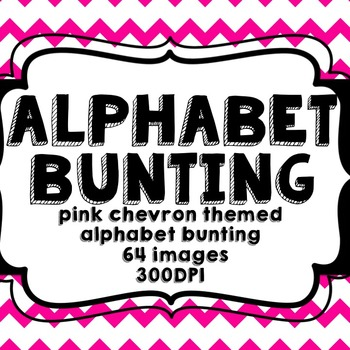 Pink Chevron Alphabet Bunting
