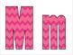 Pink Chevron Alphabet Printable
