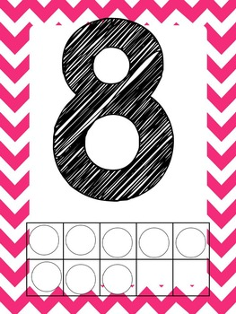 Pink Chevron Alphabet and Number Posters