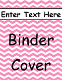 Pink Chevron Binder Cover