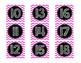 Pink Chevron Calendar Numbers