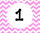 Pink Chevron Calender numbers 1-31