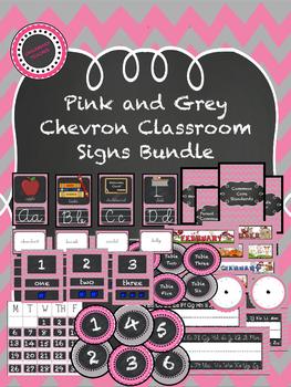 Pink Chevron Chalkboard Theme