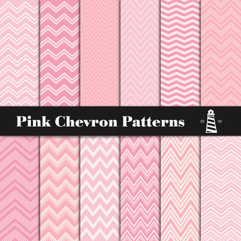 Pink Chevron Digital Paper Pack | Pink Scrapbook Paper | Pink Backgrounds