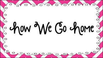 Pink Chevron How We Go Home Chart