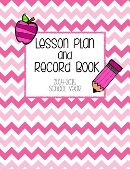 2015-16 *UPDATED* Pink Chevron Lesson Plan and Record Book