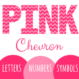 Pink Chevron Letters
