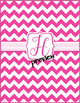 Pink Chevron Monogrammed Book Covers
