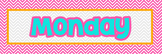 Pink Chevron Months, Days, Blank Name Tags