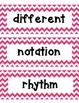Pink Chevron Musical Word Wall