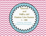 Pink Chevron Number Line Banner ~ Numbers 1 - 200