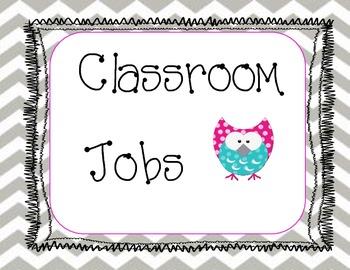 Owl Classroom Job Set