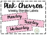 Pink Chevron Sterilite Labels (3 Drawer)