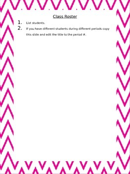 Pink Chevron Substitute Teacher Binder