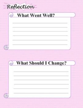 Pink Chevron Weekly Planner