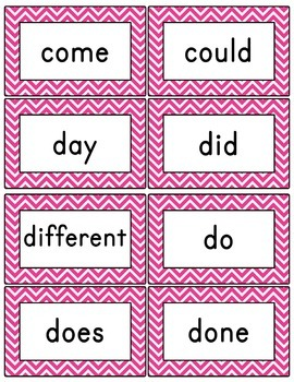 Pink Chevron Word Wall (With Editable PDF) with Headers