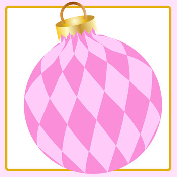 Pink Christmas Baubles Clip Art Set for Commercial use