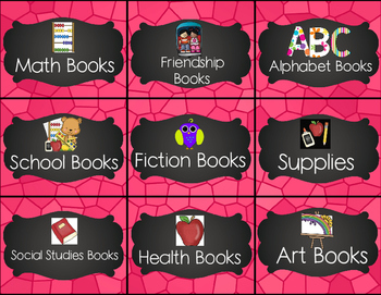 Pink Class Library Labels
