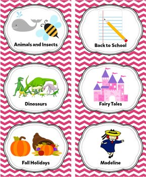 Pink Classroom Library Labels & Individual Book Labels {Editable}