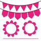 Pink Clip Art Set - Borders, Frames, Banners & Page Divider