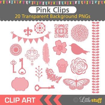 Pink Clipart, Pink Design Elements Clip Art