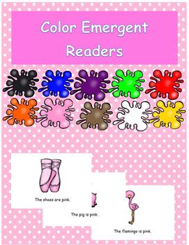 Pink Color Emergent Reader Freebie!
