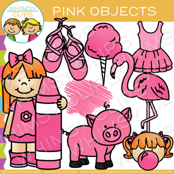Pink Color Objects Clip Art