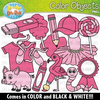 Pink Color Objects Clipart {Zip-A-Dee-Doo-Dah Designs}