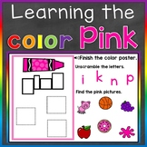 Pink Color Recognition Color Word Boom Cards (Learning Col