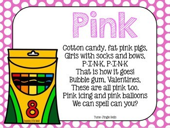 Pink Color Song Crayon Book