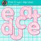 Pink Crayon Alphabet Clip Art {Great for Classroom Decor & Resources}