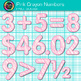 Pink Crayon Math Numbers Clip Art {Great for Classroom Dec