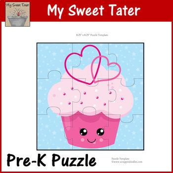 Pink Cupcake Pre-K Puzzle