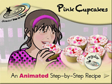 Pink Cupcakes - Animated Step-by-Step Recipe - Regular