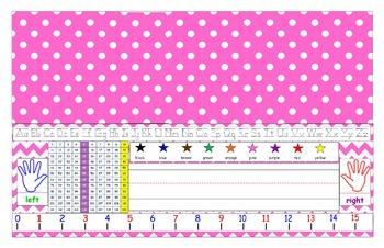 Pink Desk Tag