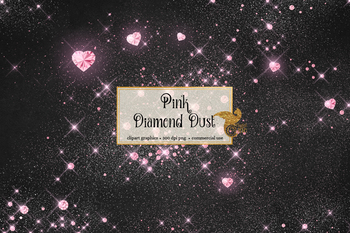 Pink Diamond Dust clipart digital PNG overlays