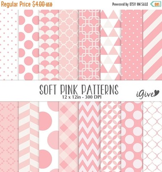 Pink Digital Backgrounds - Pink Geometrical Patterns