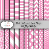 Pink Digital Paper Pack - Basic Shapes