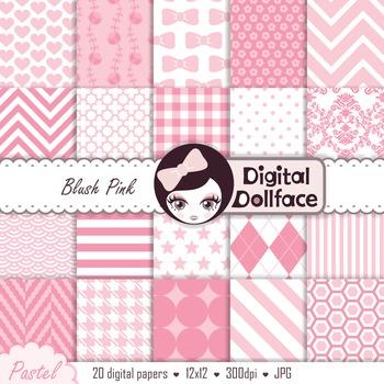 Backgrounds - Pink Digital Paper