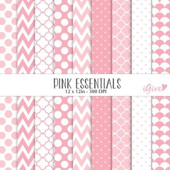 "Pink Digital Papers - ""Essentials"""