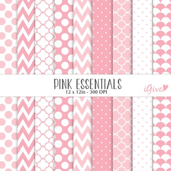 "Pink Digital Papers - ""Essentials"""
