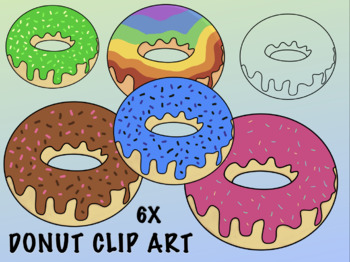 Pink Donut With Sprinkles Clip Art