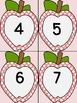 Pink Dot Apple Number Flashcards 0-100