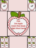 Pink Dot Apple Dolch First Grade Sight Word Flashcards and Posters