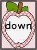 Pink Dot Apple  Dolch Pre-Primer Sight Word Flashcards and