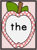 Pink Dot Apple  Fry First 100 Sight Word Flashcards and Posters