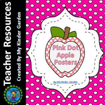 Pink Dot Apple Full Page Alphabet Letter Posters