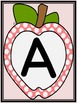 Pink Dot Apple Alphabet Letter Card Flashcards and Posters Bundle