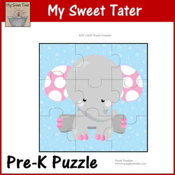 Pink Dot Elephant Pre-K Puzzle