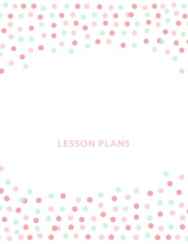 Pink Dot Lesson Plan Binder Covers
